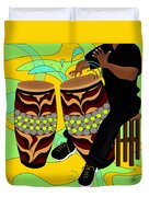 Rhythm Of The Drums Duvet Cover