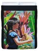 Rhythm Of The Hula Duvet Cover