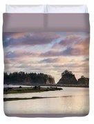 Rialto Beach Sunset On The Pacific Coast In Washington Duvet Cover