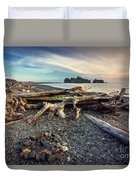 Rialto Beach Washington Duvet Cover