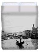 Rialto Bridge In Venice  Duvet Cover