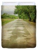 Ribbon Road - Sidewalk Highway Duvet Cover