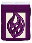 Ribbons Of Love-violet Duvet Cover
