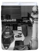 Riccardo Patrese. 1986 Spanish Grand Prix Duvet Cover