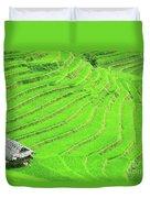 Rice Field Terraces Duvet Cover