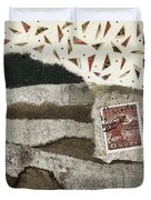 Rice Paddies Collage Duvet Cover