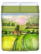 Ricefield Panorama Duvet Cover