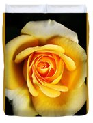 Rich And Dreamy Yellow Rose   Duvet Cover