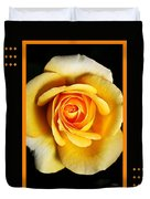 Rich And Dreamy Yellow Rose  With Design Duvet Cover