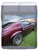 Rich Cherry - '69 Mustang Duvet Cover