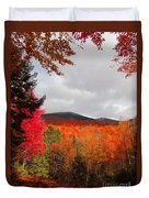 Rich Fall New Hampshire Colors Duvet Cover