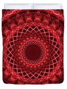 Rich Red Mandala Duvet Cover