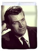 Richard Egan, Vintage Actor Duvet Cover