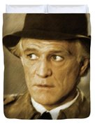 Richard Harris, Vintage Actor Duvet Cover