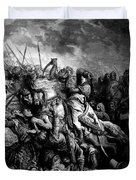 Richard I The Lionheart In Battle At Arsuf In 1191 1877 Duvet Cover