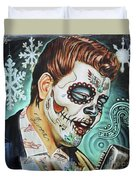 Richie Valens Day Of The Dead Duvet Cover