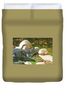 Richly Hued Colorado Gator On The Rocks 2 10282017 Duvet Cover