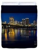 Richmond Night Skyline Duvet Cover