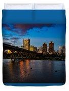 Richmond Skyline At Night Duvet Cover