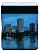 Richmond Skyline At Nightfall 11908t Duvet Cover