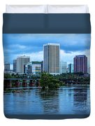Richmond Skyline In Early Night 11888 Duvet Cover
