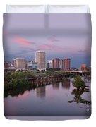 Richmond Skyline Sunset Pink Duvet Cover