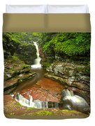 Ricketts Glen Adams Falls Duvet Cover