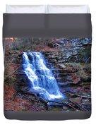 Ricketts Glen Waterfall 3941  Duvet Cover