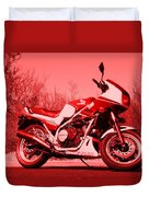 Ride Red Duvet Cover