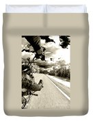 Ride To Live Duvet Cover by Micah May