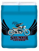 Ride With Passion Cafe Racer Duvet Cover