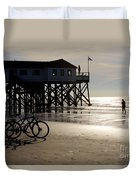 Ride Your Bike To The Beach Duvet Cover