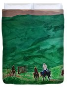 Riders In The Andes Duvet Cover