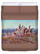 Riders Of The Open Range Duvet Cover by Charles Marion Russell