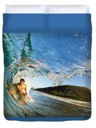 Riding Barrel At Makena Duvet Cover