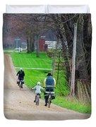 Riding Home Duvet Cover