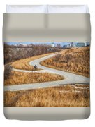 Riding In The City Duvet Cover