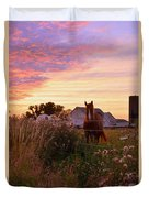 Riding Off Into The Sunset Duvet Cover
