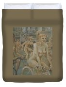 Riding Passed Burlington Arcade In June Duvet Cover