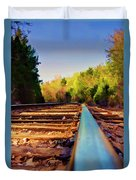 Riding The Rail Duvet Cover