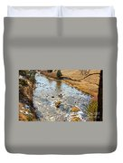 Riffles In The River Duvet Cover