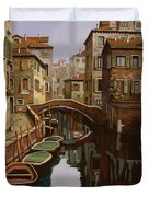 Riflesso Scuro Duvet Cover by Guido Borelli