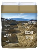 Right Path Duvet Cover