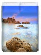 Rijana Beach Mediterranean Sea Duvet Cover