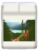 Rim-riding O'er The Canadian Rockies Duvet Cover