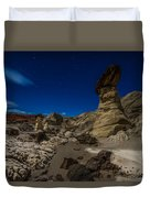 Rim Rock Toadstools Grand Staircase National Monument  Duvet Cover
