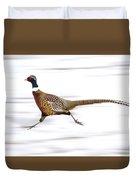 Ring Necked Pheasant Duvet Cover