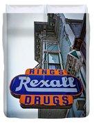 Ring's Rexall Drugs  Duvet Cover