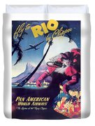 Rio, Brazil, Pan American Airways, Dancing Woman Duvet Cover
