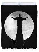Rio De Janeiro Landmark Black Duvet Cover